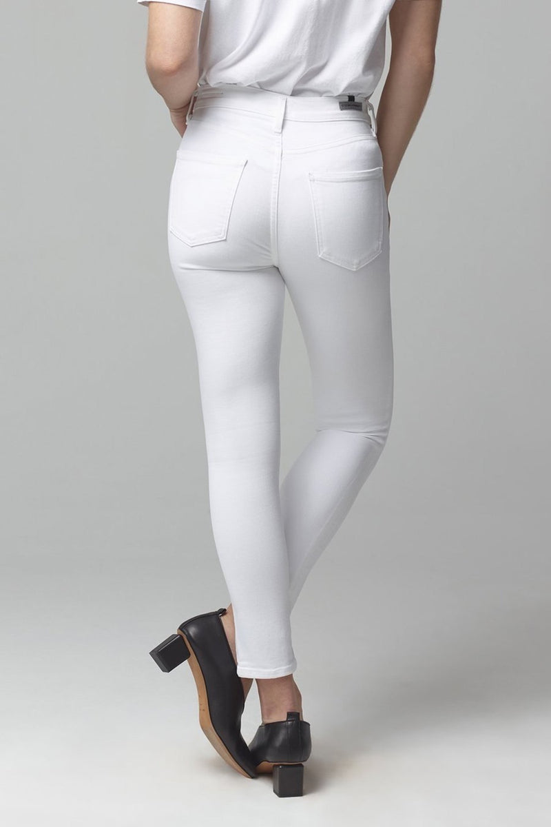 Rocket Crop High Rise Skinny in White Sculpt