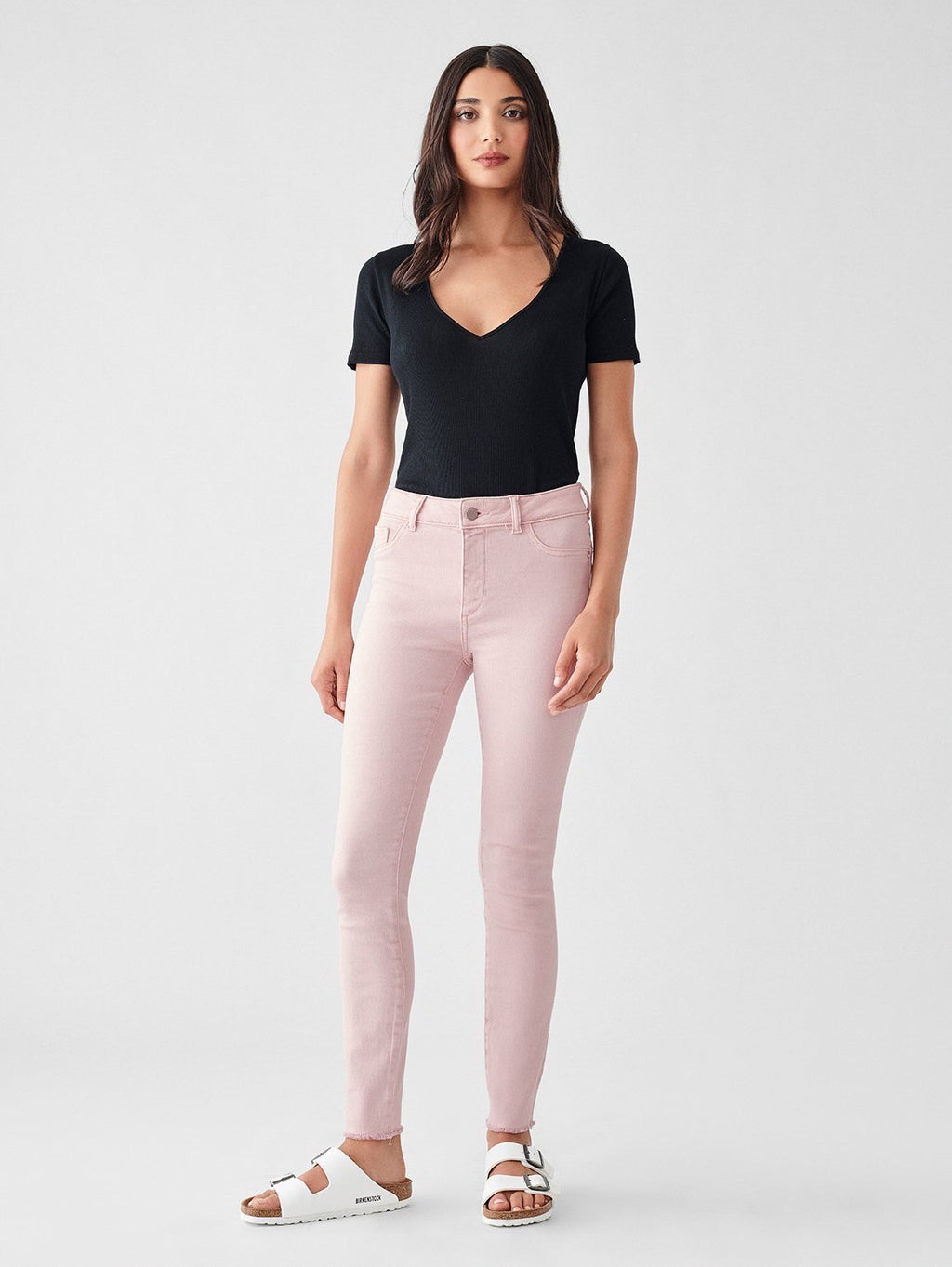Florence Ankle Mid Rise Skinny in Camellia