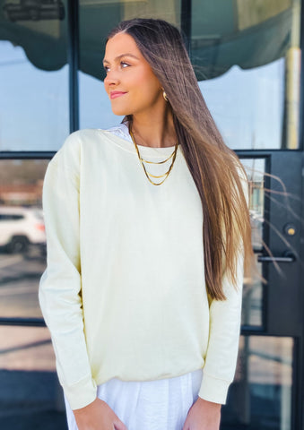 Color Block Round Neck Pullover