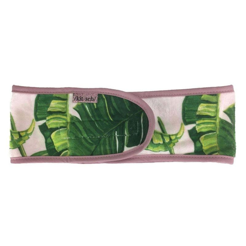 Palm Print Microfiber Spa Headband