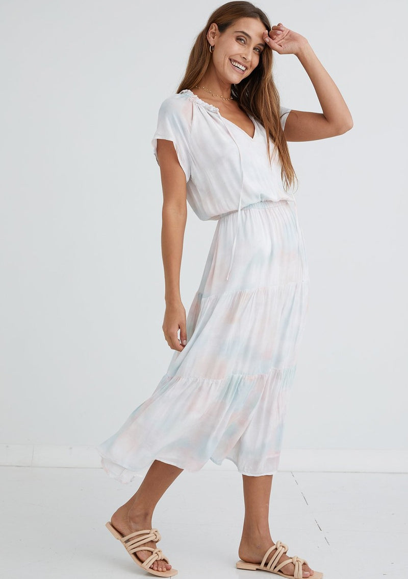 Flutter Raglan Maxi Tier Dress