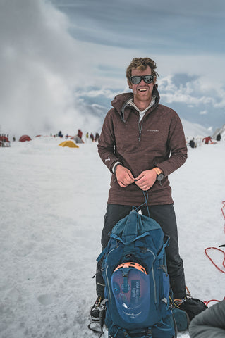 """The High-E Hoodie has changed the layering system entirely, creating two layers of protection, durability, and warmth while having the weight of just one."" - Eric Roberts, Professional Mountain Guide, Alaska"