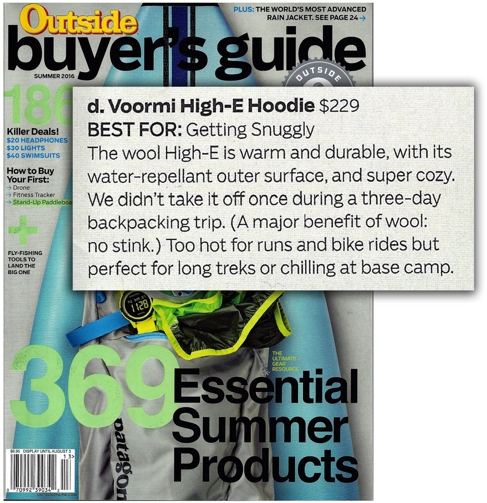 outside magazine gets snuggly with voormi in the 2016 summer buyer s rh voormi com Used Car Buyer Guides Template Wisconsin Buyer Guides