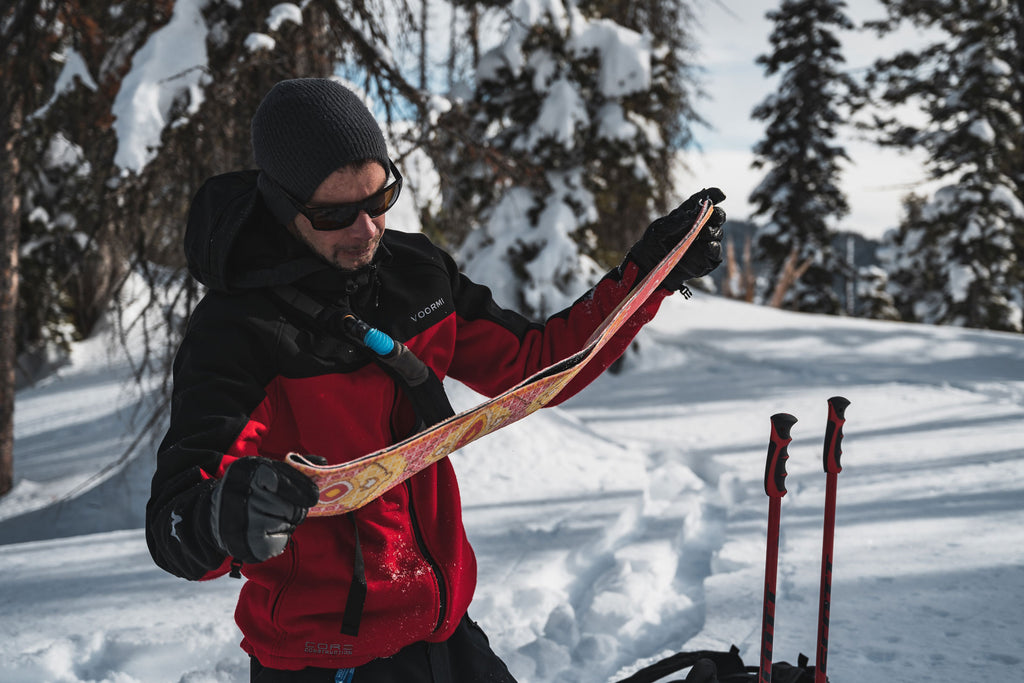 Taking care of backcountry ski and snowboard skins