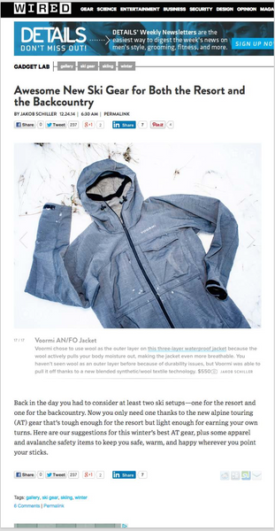 AN/FO FEATURED BY WIRED MAGAZINE – VOORMI