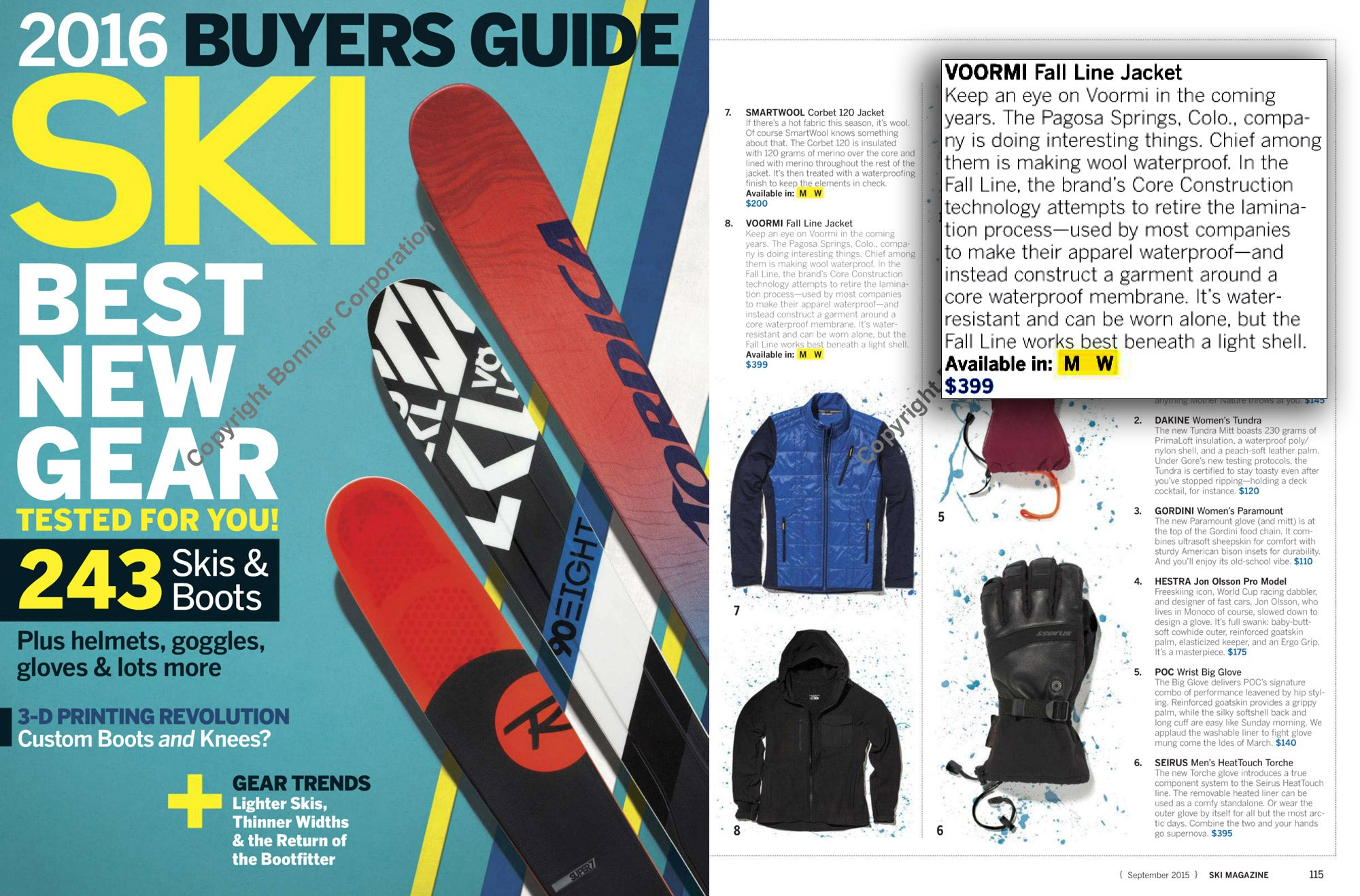 the upcoming fallline jacket featured in ski magazine 2016 buyers rh voormi com ski magazine buyers guide 2016 ski magazine buyers guide 2016