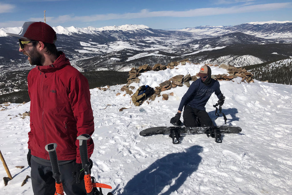 Staying together when splitboarding