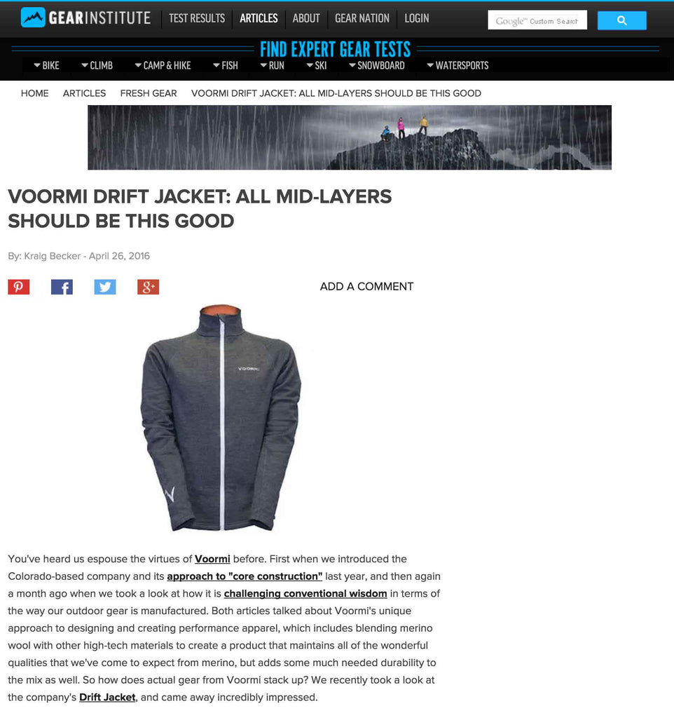 Drift Jacket Voormi Gear Institute