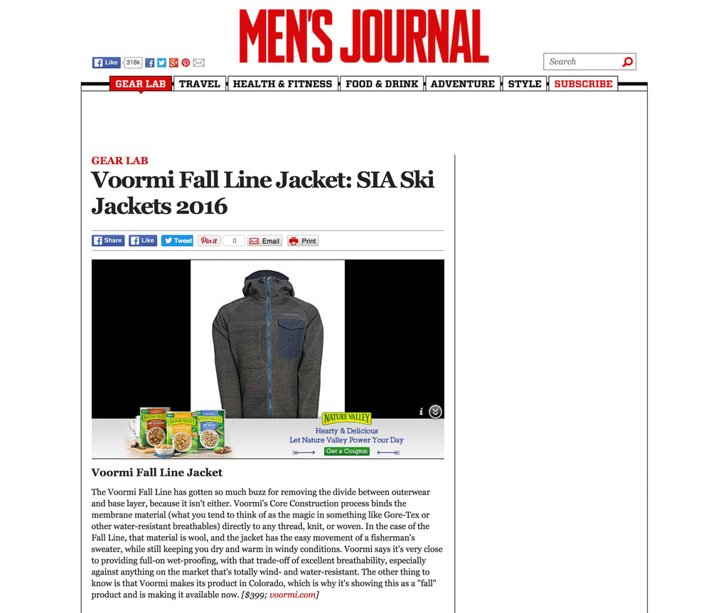 Men's Journal Voormi Fall Line Jacket SIA