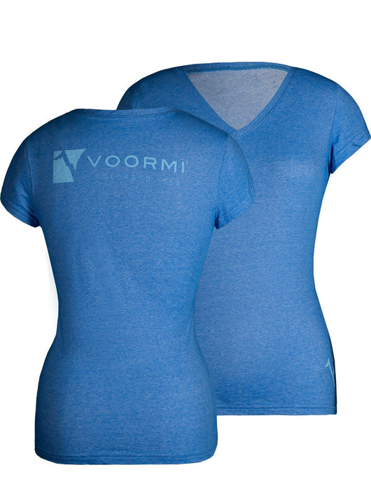 WOMEN'S V-NECK LOGO TEE