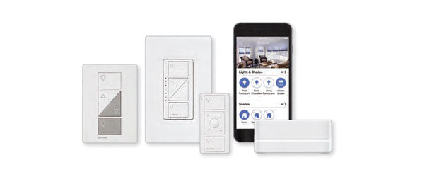 Caseta Wireless dimmers, switches, remote, Smart Bridge, Lutron App