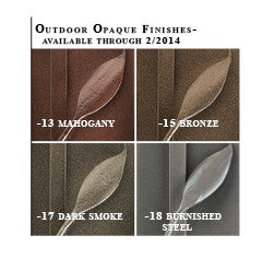 Hubbardton Forge Outdoor Finishes Available Through 2014-02