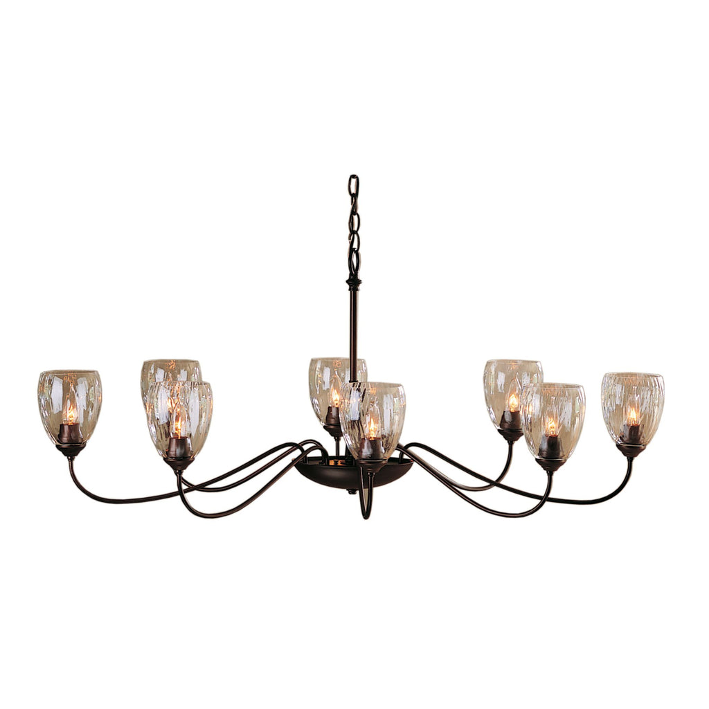 Oval Large 8 Arm Chandelier with Water Glass