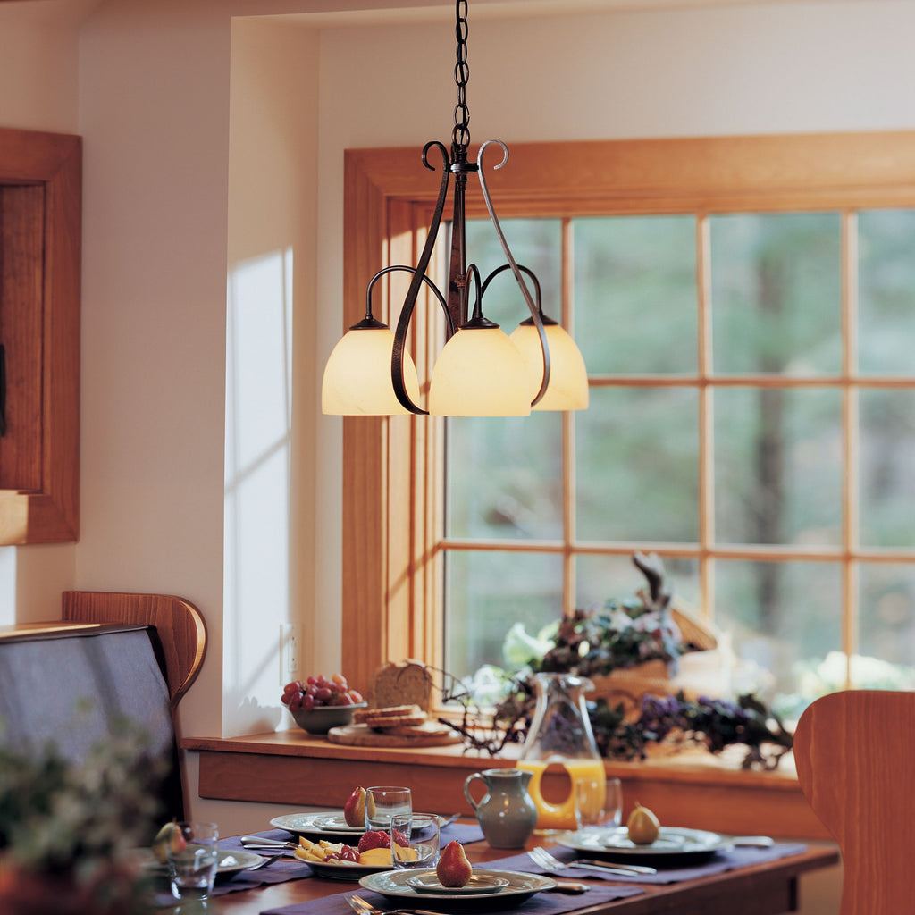Sweeping Taper 3 Arm Downlight Chandelier