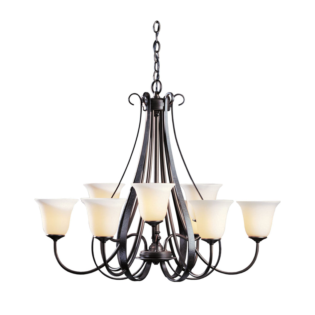 Sweeping Taper 9 Arm Chandelier