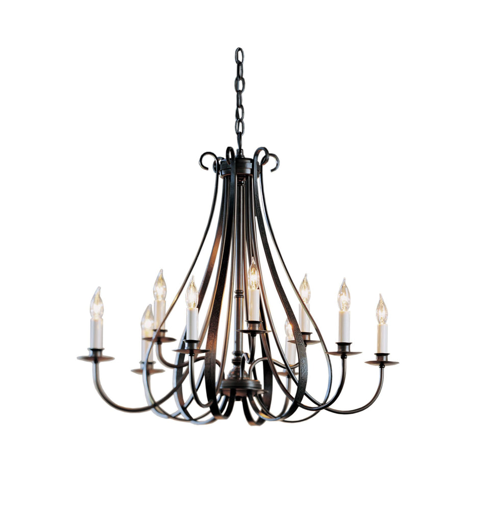 Sweeping Taper 9 Arm Candle Chandelier