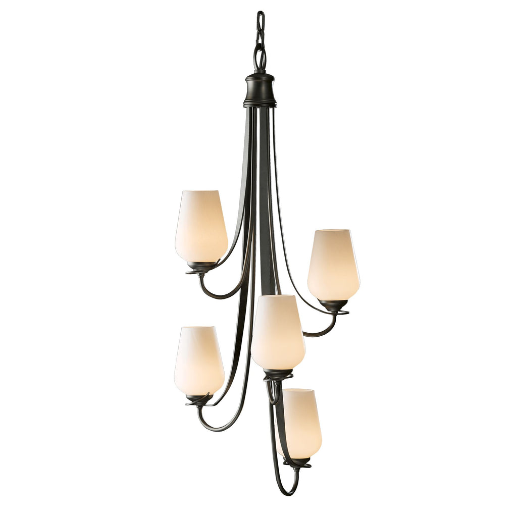 Flora Vertical 5 Arm Chandelier