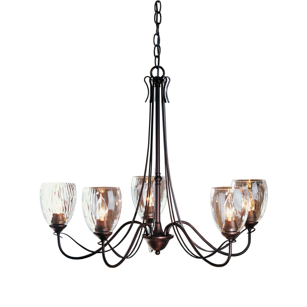 Trellis 5 Arm Chandelier with Water Glass