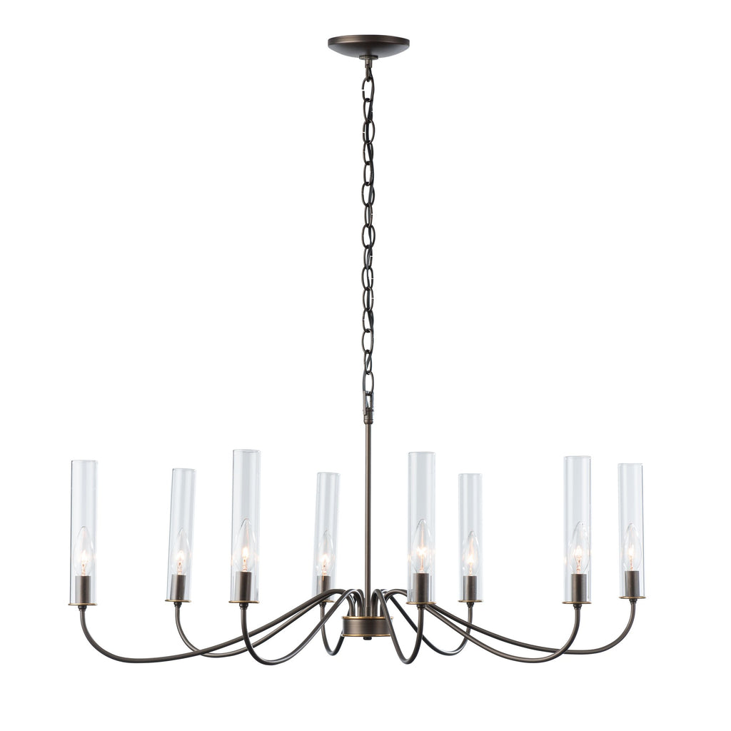 Grace 8 Arm Chandelier in Dark Smoke from Synchronicity by Hubbardton Forge