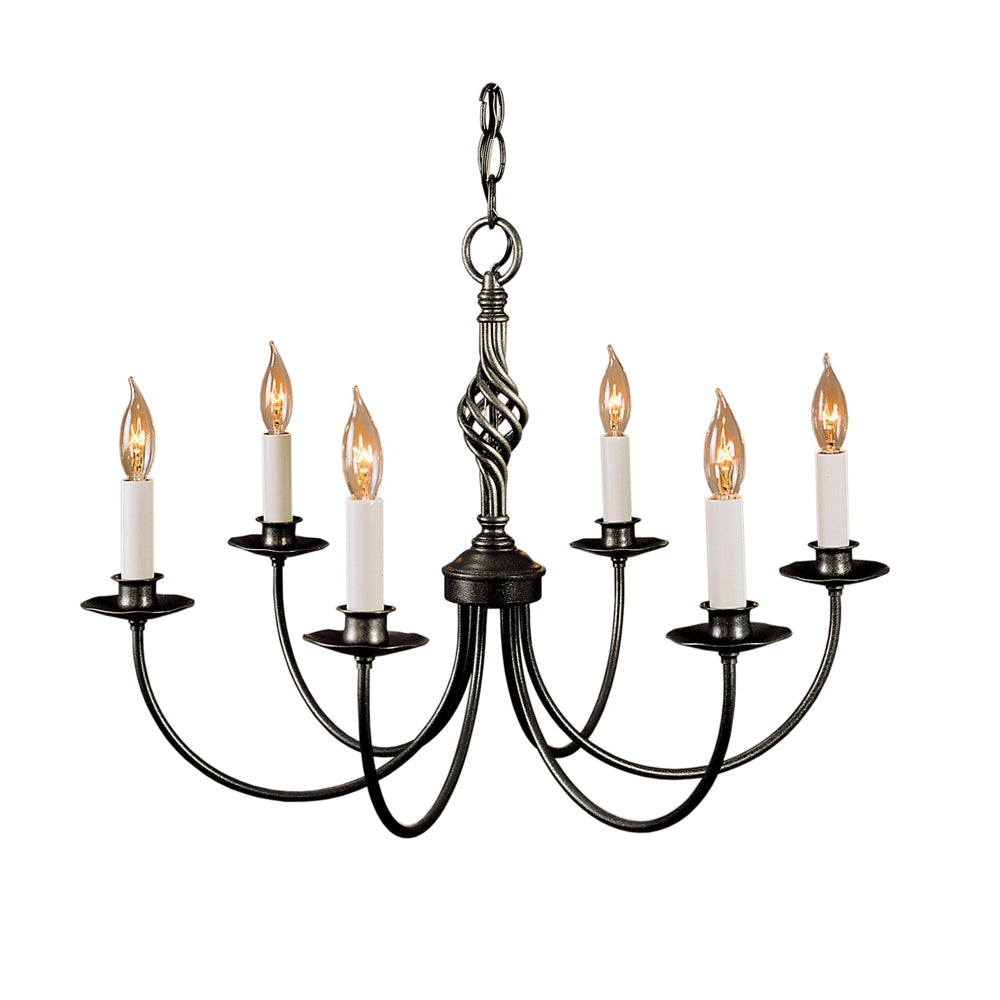 Twist Basket 6 Arm Chandelier
