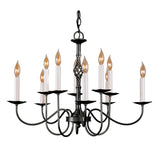 Twist Basket 10 Arm Chandelier