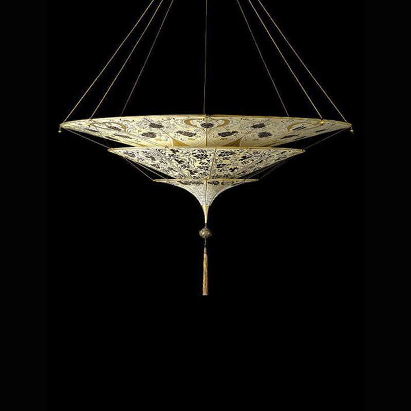 Scheherazade Ceiling light, floral pattern, venetia studium, fortuny lighting