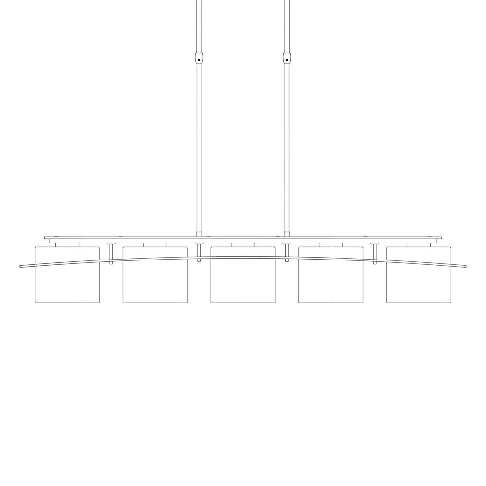 Arc Ellipse Large 5 Light Pendant