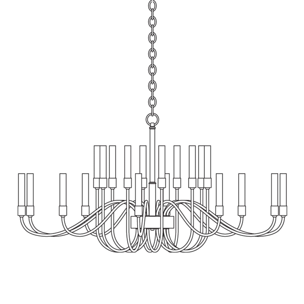 Lisse 20 Arm Chandelier