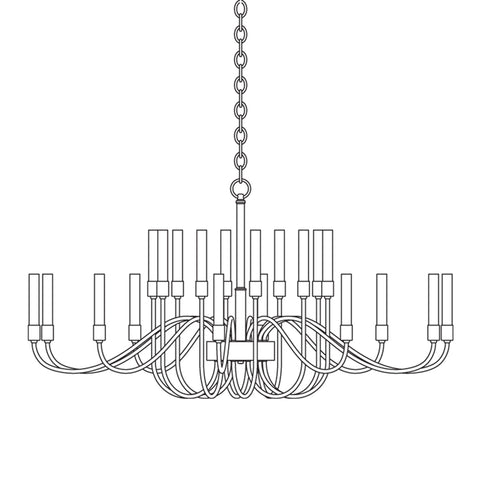 Double Cirque Chandelier