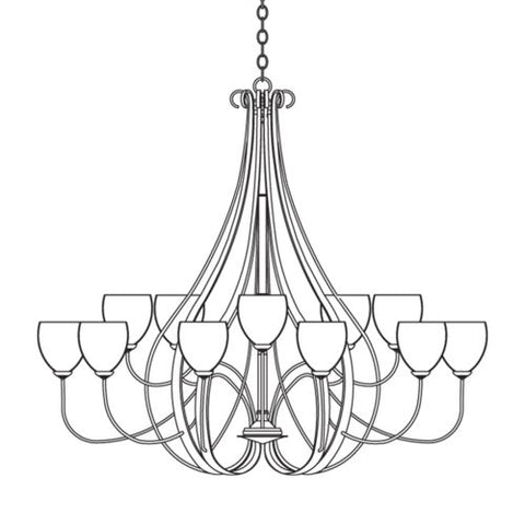 Simple Lines 18 Arm Chandelier