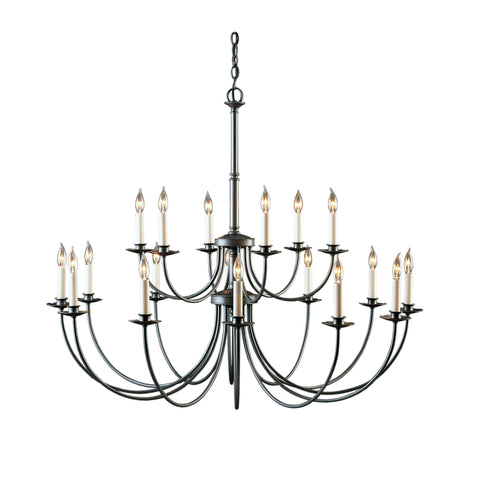 Sweeping Taper 12 Arm Chandelier