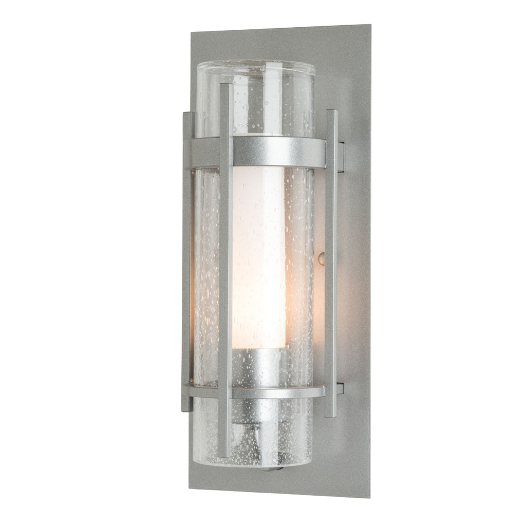 Banded Seeded Glass Indoor Sconce