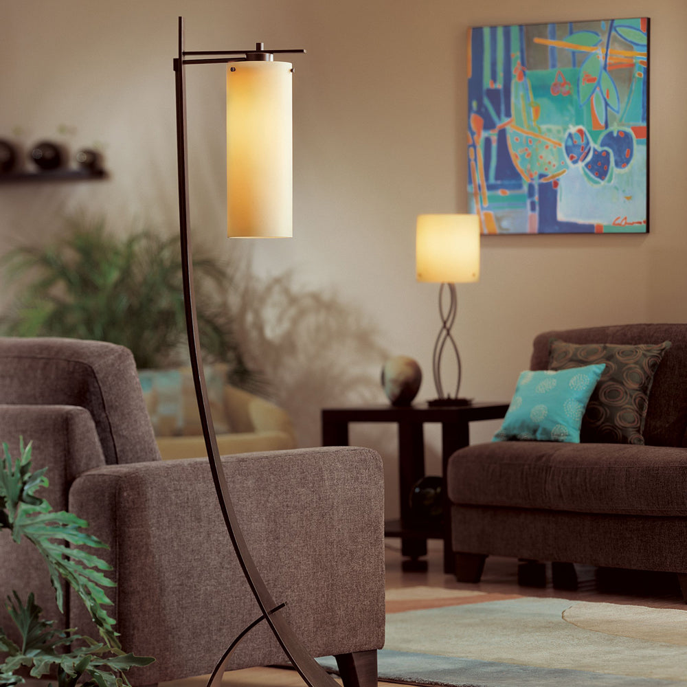 Stasis Floor Lamp with Glass Shade