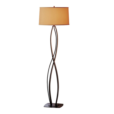 Twist Basket Swing Arm Floor Lamp
