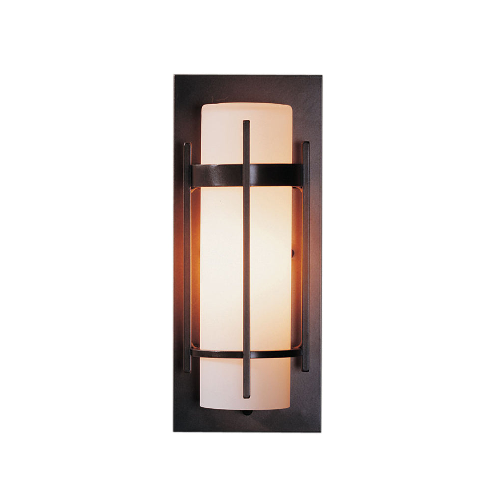 Banded Small Outdoor Sconce