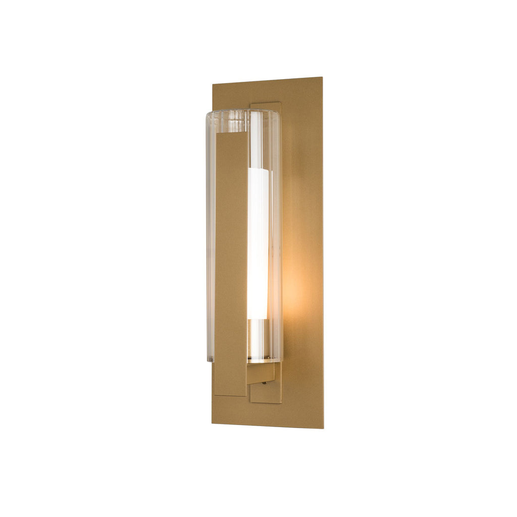 Vertical Bar Fluted Glass Medium Outdoor Sconce