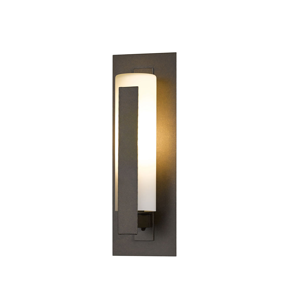 Forged Vertical Bars Small Outdoor Sconce