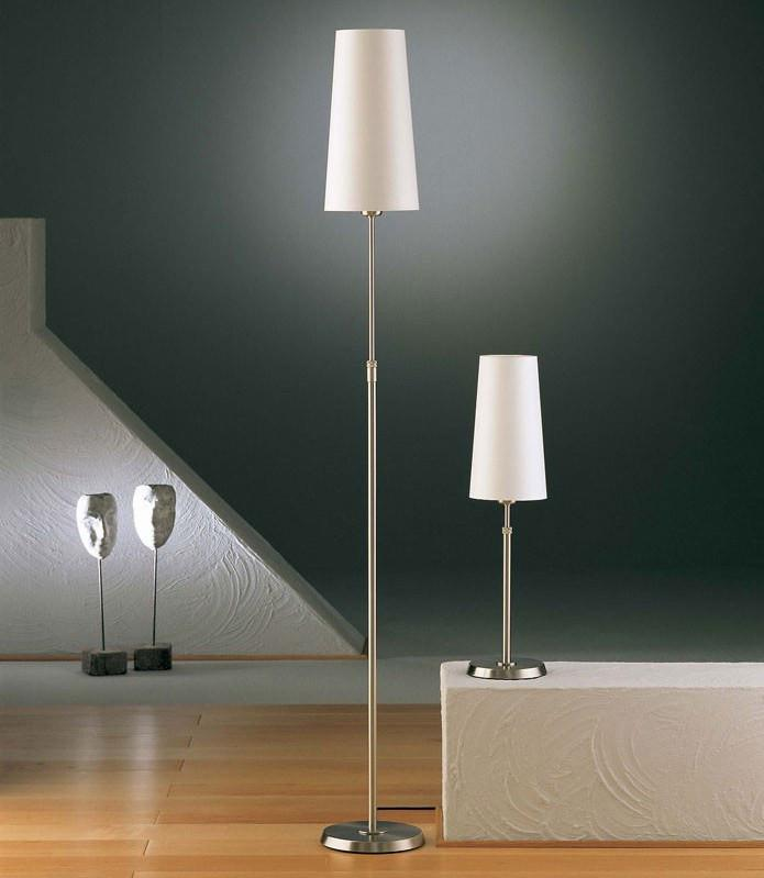 6354 SHADED FLOOR LAMP SATIN NICKEL WITH NARROW SATIN WHITE SHADE - 3