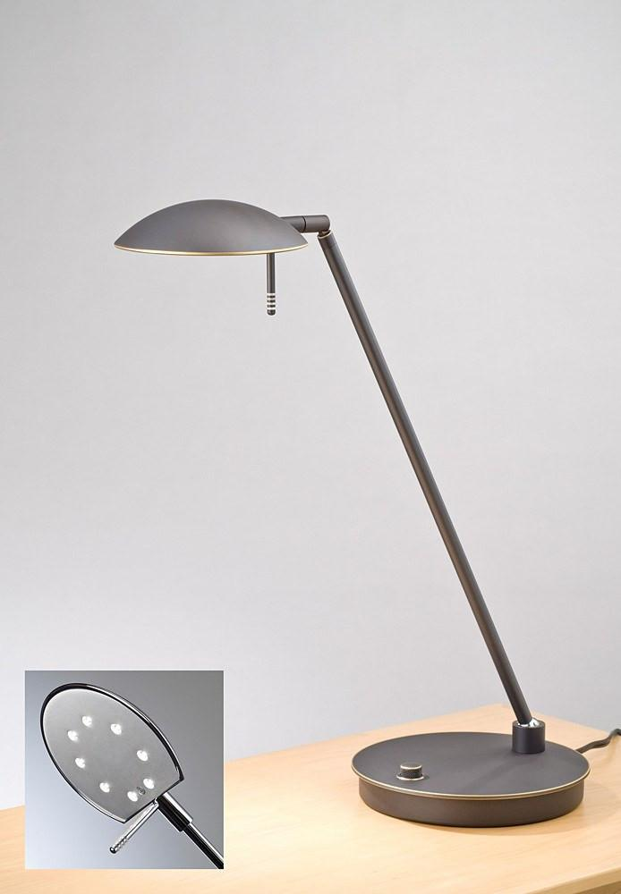 6477LED TABLE LAMP HAND-BRUSHED OLD BRONZE - 3