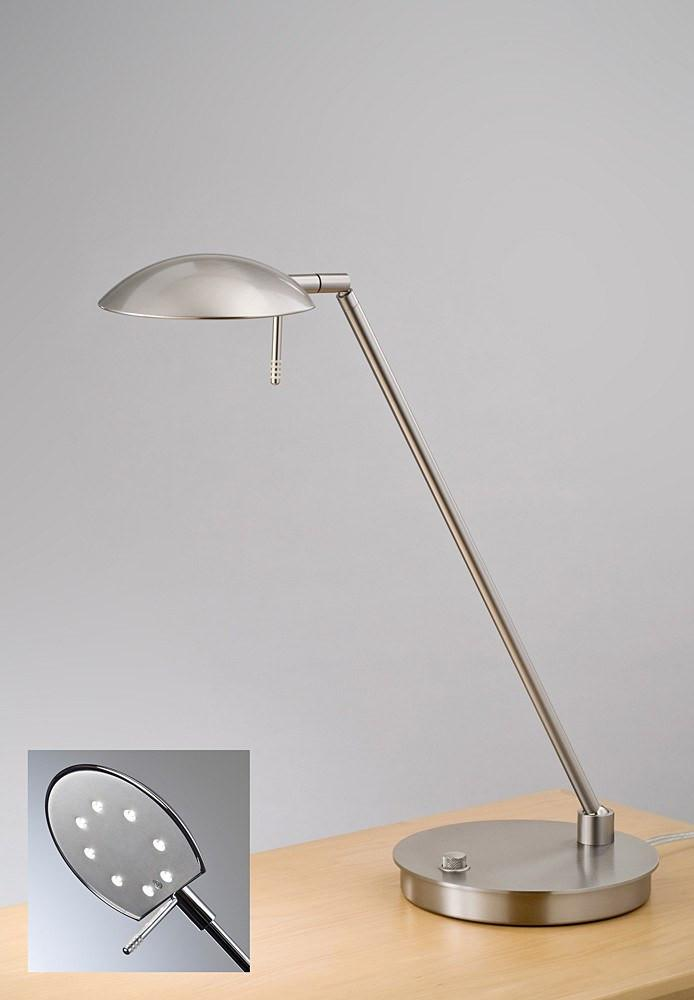 6477LED TABLE LAMP SATIN NICKEL - 1