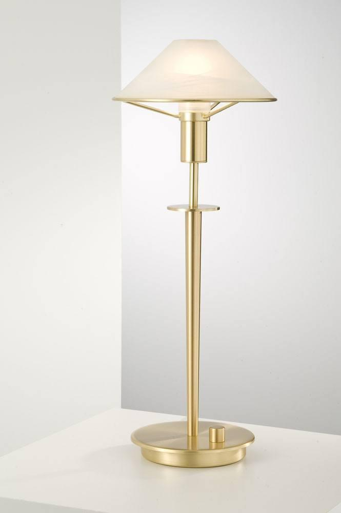 6514 HALOGEN TABLE LAMP BRUSHED BRASS / ALABASTER WHITE GLASS - 1