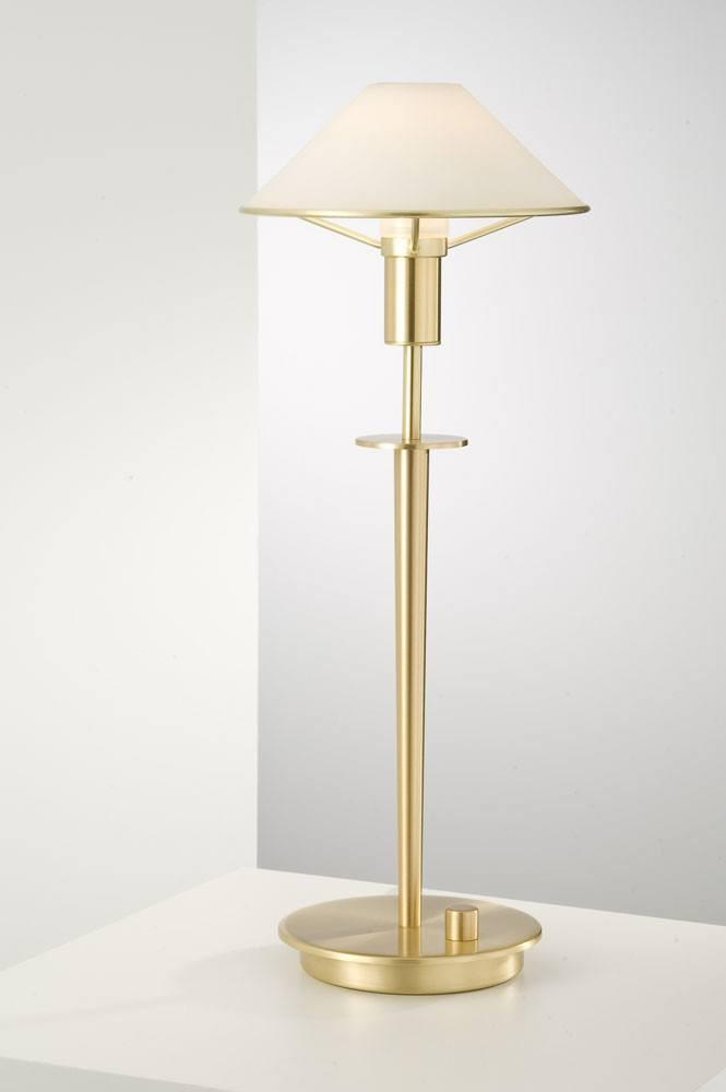 6514 HALOGEN TABLE LAMP BRUSHED BRASS / TRUE WHITE GLASS - 4
