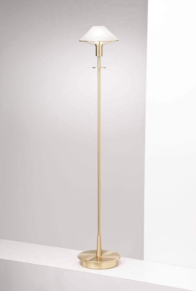 6515 HALOGEN FLOOR LAMP BRUSHED BRASS / ALABASTER WHITE GLASS - 2
