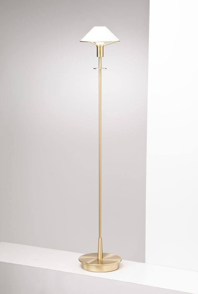 6515 HALOGEN FLOOR LAMP BRUSHED BRASS / TRUE WHITE GLASS - 5