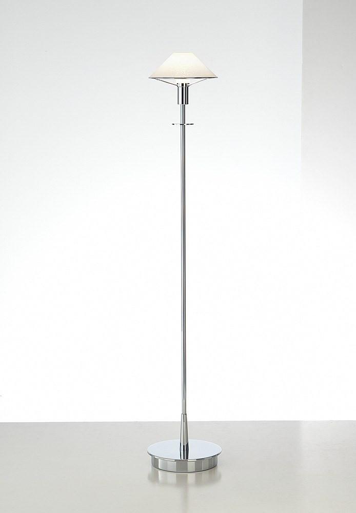 6515 HALOGEN FLOOR LAMP CHROME / SATIN WHITE GLASS - 7