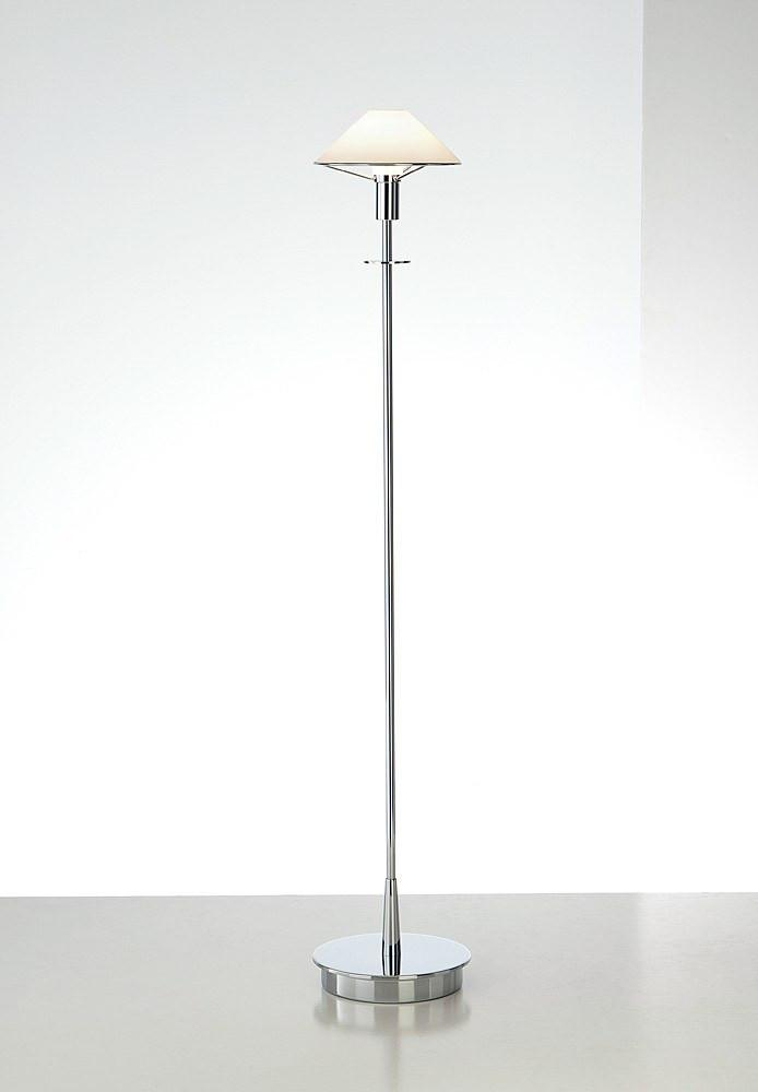 6515 HALOGEN FLOOR LAMP CHROME / TRUE WHITE GLASS - 8