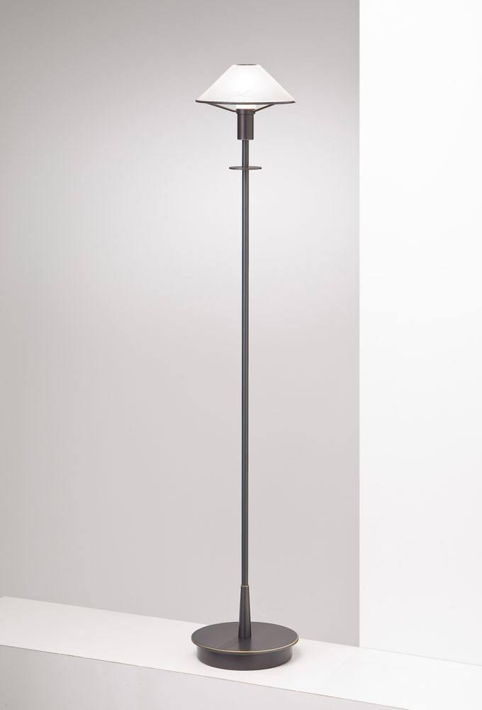 6515 HALOGEN FLOOR LAMP HAND-BRUSHED OLD BRONZE / ALABASTER WHITE GLASS - 10