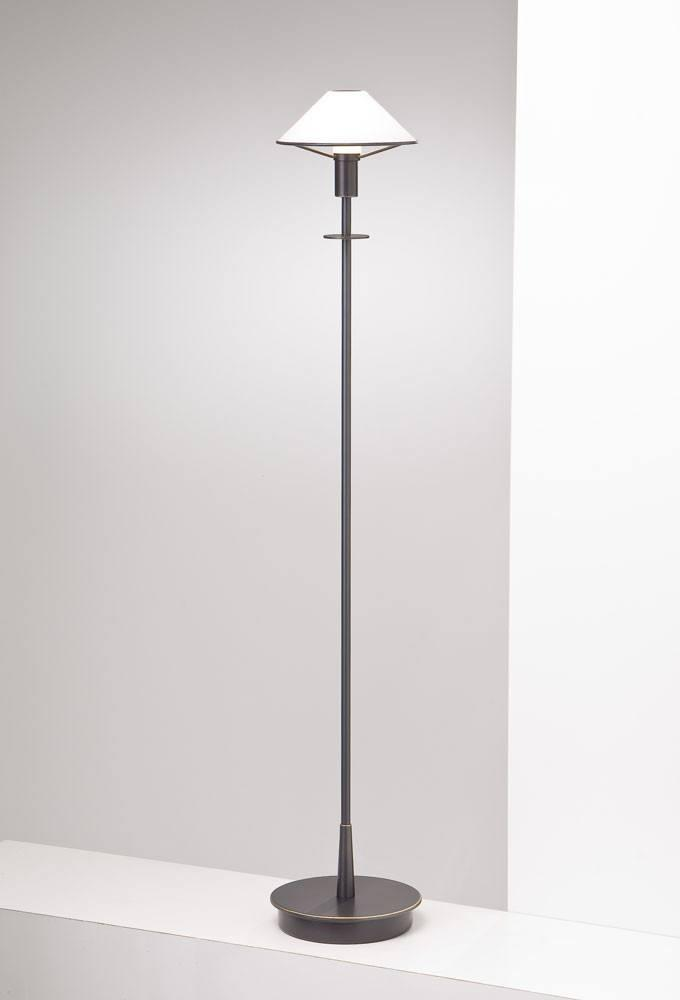 6515 HALOGEN FLOOR LAMP HAND-BRUSHED OLD BRONZE / TRUE WHITE GLASS - 13