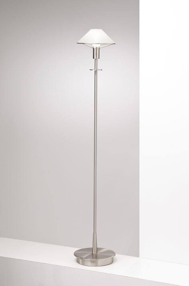 6515 HALOGEN FLOOR LAMP SATIN NICKEL / SATIN WHITE GLASS - 15