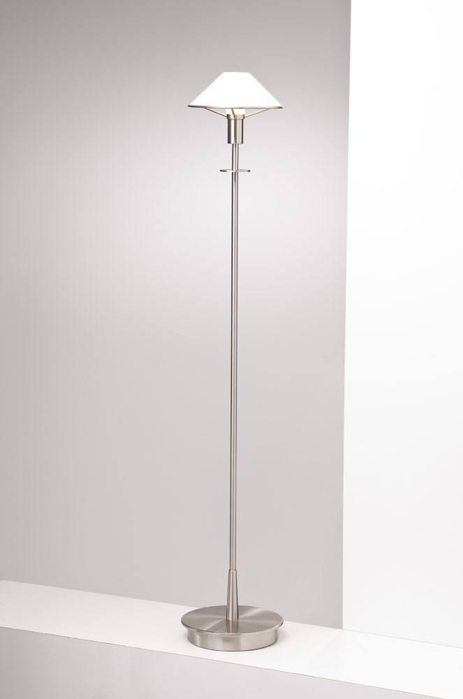 6515 HALOGEN FLOOR LAMP SATIN NICKEL / TRUE WHITE GLASS - 16